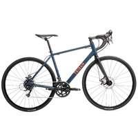 Triban Bicycle Touring Road Bike Rc120 Disc - Navy/Orange